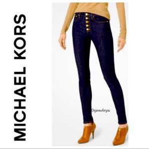 MICHAEL KORS SELMA SKINNY JEANS BUTTON FLY